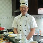 Our friendly breakfast chef