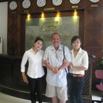 With two of the wonderful hotel staff members