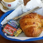 butter croissant and coffee