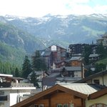 Zermatt with the mountains towards the Italian border