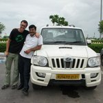 Rajesh Singh, our car and my husband