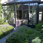 Part of the garden and conservatory