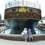 Son Alexander, my son with his Nanna at the stern of the SS Great Britain