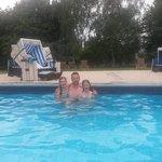 Heerlijk in het zwembad