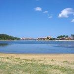 Vue  du Lac Marin, Pignada situé sur la droite