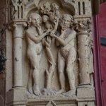 Détail de la statuaire, Adam et Eve