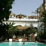 La piscine ombragée