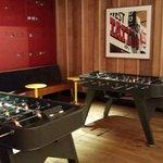 Futbolines gratuitos en el bar