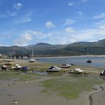 View of rail crossing from Barmouth