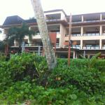 Photo of hotel from beach