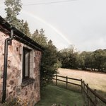 Lovely rainbow over the cottage