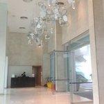 very spacious lobby area