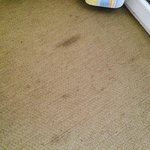 Carpet was heavily stained throughout...