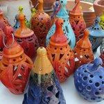 Mooie handgemaakte en geschilderd keramiek
