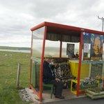 Baltasound Bus Shelter - this year a shrine to Nelson Mandela