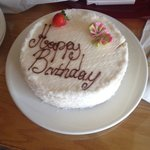 complimentary birthday cake