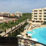 Our view from one of the balconies in the room, overlooking the adult pool and on the left side