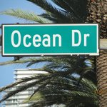 Ocean drive is next block from Collins Avenue