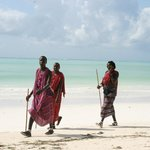 Masai on the beach
