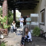 our private patio