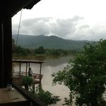 view from day bed on the boat lodge deck