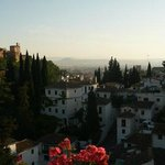 The Alcazaba (Alhambra), Albaicin, and view of the Granada plains beyond