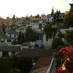 View to houses Albaicin, Granada