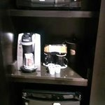 Coffee maker, Microwave and Mini Fridge