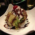Tempura green tea ice cream