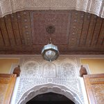 decorated ceiling in courtyard