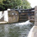 Una chiusa lungo il canale