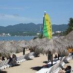 Vista a playa del hotel