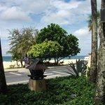 Пляж через дорогу.