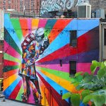 Graffiti by Kobra as seen from the High Line