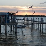Pier & Boat Dock at Augie's Sunset Cafe