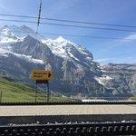 Stunning view from station Kleine Scheidegg