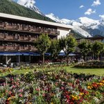 The hotel with Mont Blanc