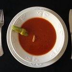 Classic Caesar Cocktail Soup