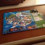 Mapa y recuerdo del día