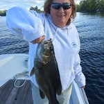 Joanne can fish!