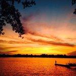 Sunset in summer