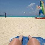 Playa Del Carmen beach from Viva Wyndham Azteca sunbed