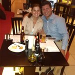 A nice dinner with my wife in a great restaurant