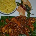 Nihal's Signature Dish- Sri Lankan style prawns