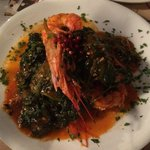 Grilled Shrimps with Spinachs and Ouzo sauce. AMAZING!