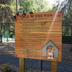 Guidelines for the dog run.