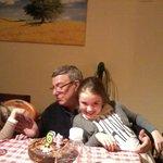 Paolo e le nipoti Alice e Anna