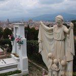 教会からフィレンツェ市街を望む