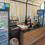 one of the many drinks stations dotted around the resort.  Self serve and great idea