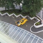 Bonus view of our car in VIP parking